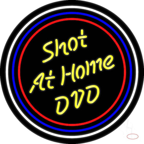 Yellow Shot At Home Dvd Real Neon Glass Tube Neon Sign