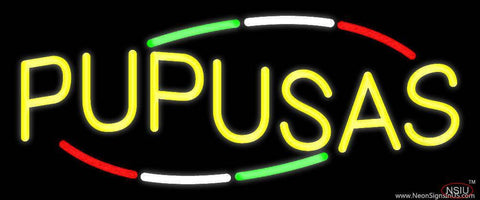 Pupusas Real Neon Glass Tube Neon Sign