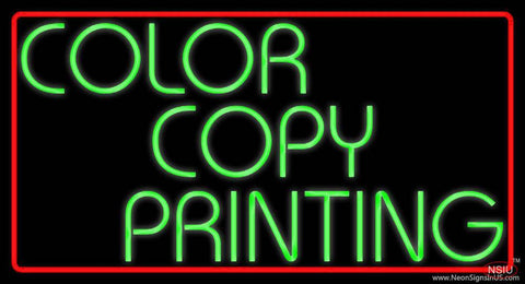 Color Copy Printing Red Border Real Neon Glass Tube Neon Sign