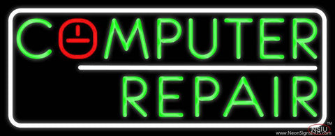 Computer Repair Border Real Neon Glass Tube Neon Sign
