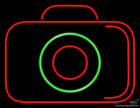 Camera Black Colored Real Neon Glass Tube Neon Sign