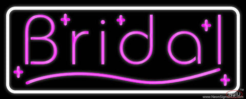Pink Bridal With Border Real Neon Glass Tube Neon Sign