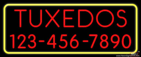 Tuxedos With Phone Number Real Neon Glass Tube Neon Sign