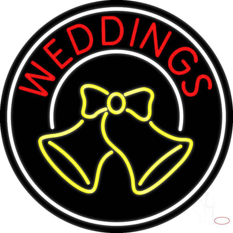 Circle Weddings Bell Real Neon Glass Tube Neon Sign