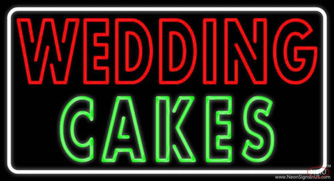 Wedding Cakes Double Stroke Real Neon Glass Tube Neon Sign