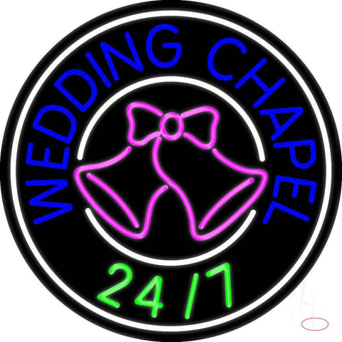 Wedding Chapel With Bell Real Neon Glass Tube Neon Sign