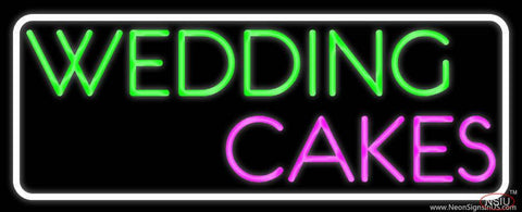White Border Wedding Cakes Real Neon Glass Tube Neon Sign