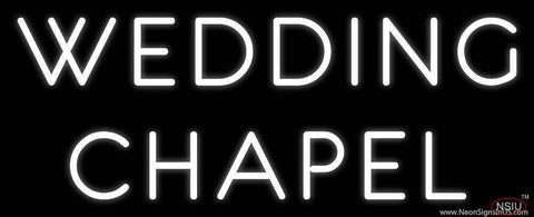 White Wedding Chapel Real Neon Glass Tube Neon Sign