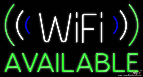 Wifi Available With Logo Real Neon Glass Tube Neon Sign