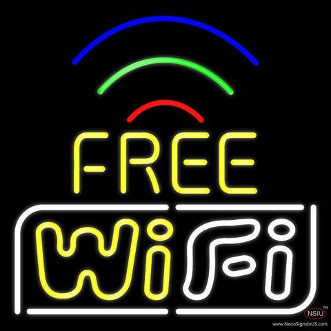 Wifi Free Red Border With Phone Number Real Neon Glass Tube Neon Sign