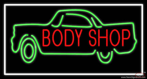 Body Shop Car Logo  Real Neon Glass Tube Neon Sign