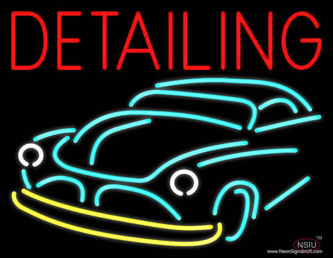 Detailing With Car Logo Real Neon Glass Tube Neon Sign