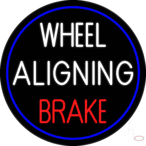 Wheel Aligning Brake Real Neon Glass Tube Neon Sign