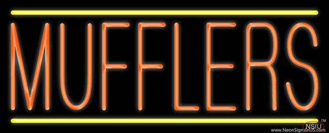 Orange Mufflers Yellow Lines Real Neon Glass Tube Neon Sign