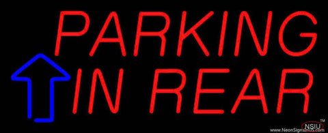 Parking In Rear Block With Arrow Real Neon Glass Tube Neon Sign