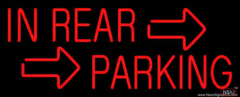 Red In Rear Parking Real Neon Glass Tube Neon Sign