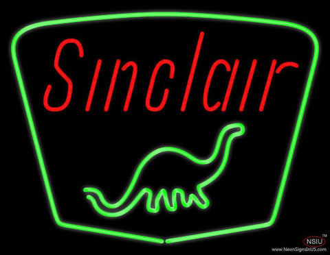 Sinclair Gasoline With Logo Real Neon Glass Tube Neon Sign
