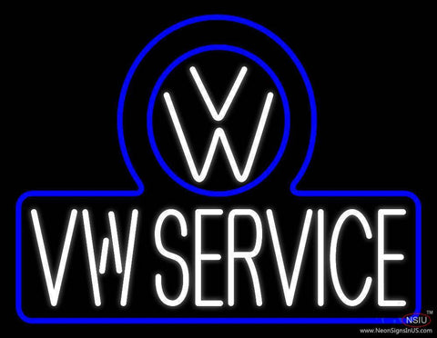 Volkswagen Service Real Neon Glass Tube Neon Sign