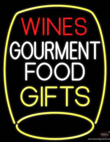 Wines Food Gifts Real Neon Glass Tube Neon Sign