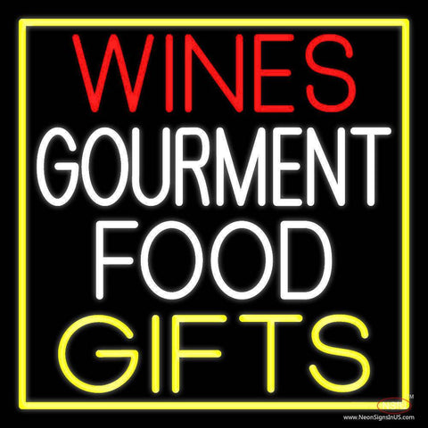 Wines Food Yellow Gifts Real Neon Glass Tube Neon Sign