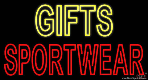 Yellow Gifts Red Sportswear Real Neon Glass Tube Neon Sign