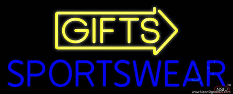 Yellow Gifts Sportswear Real Neon Glass Tube Neon Sign
