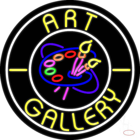 Art Gallery With Logo Real Neon Glass Tube Neon Sign