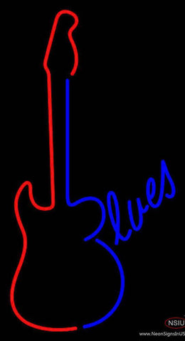 Blues Guitar Real Neon Glass Tube Neon Sign