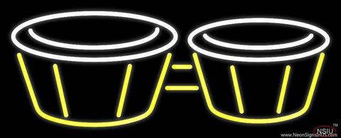 Bongos Drum  Real Neon Glass Tube Neon Sign