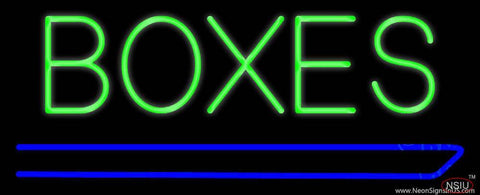Boxes Douuble Stroke Real Neon Glass Tube Neon Sign