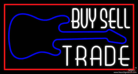 Buy Sell Trade Guitar  Real Neon Glass Tube Neon Sign