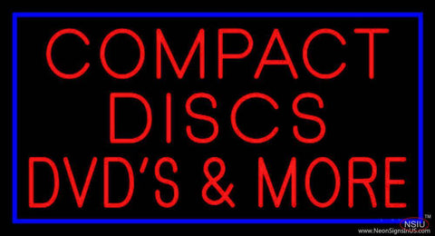 Compact Disc Dvds More Real Neon Glass Tube Neon Sign