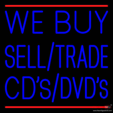 We Buy Sell Cds Dvds  Real Neon Glass Tube Neon Sign
