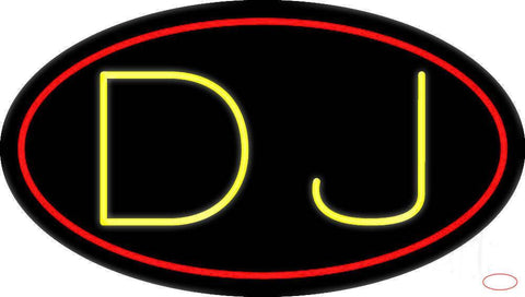 Yellow Dj  Real Neon Glass Tube Neon Sign
