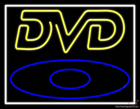 Yellow Dvd Real Neon Glass Tube Neon Sign