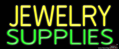 Yellow Jewelry Green Supplies Real Neon Glass Tube Neon Sign