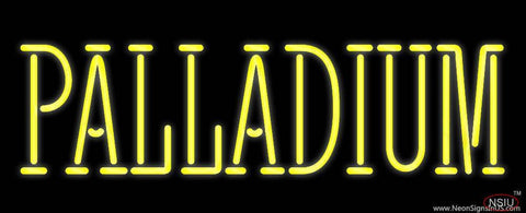 Yellow Palladium Real Neon Glass Tube Neon Sign