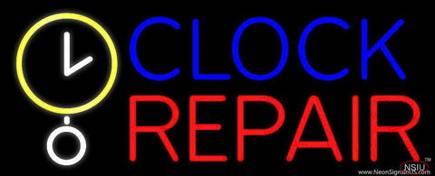 Clock Repair Block Real Neon Glass Tube Neon Sign