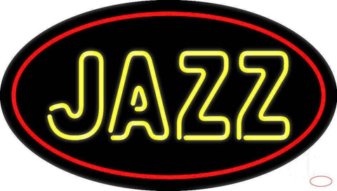 Yellow Jazz Block  Real Neon Glass Tube Neon Sign
