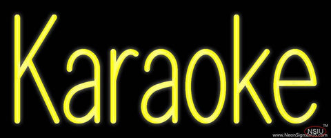 Yellow Karaoke  Real Neon Glass Tube Neon Sign