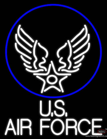 Us Air Force With Circle Real Neon Glass Tube Neon Sign