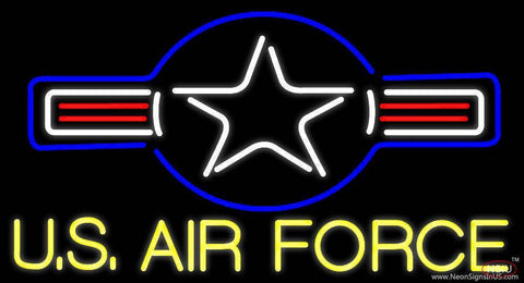 Yellow Us Air Force Real Neon Glass Tube Neon Sign