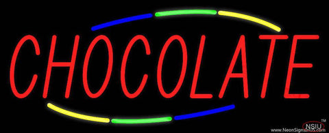 Chocolate Real Neon Glass Tube Neon Sign