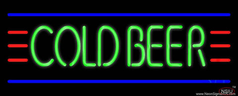 Cold Beer Real Neon Glass Tube Neon Sign