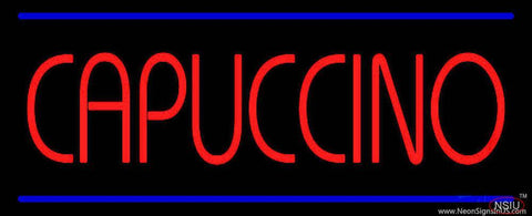 Red Cappuccino Blue Lines Real Neon Glass Tube Neon Sign