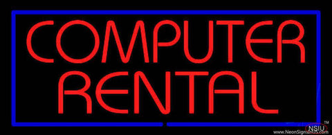 Computer Rental Real Neon Glass Tube Neon Sign