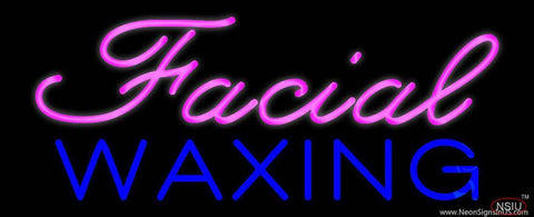 Cursive Pink Facial Waxing Real Neon Glass Tube Neon Sign