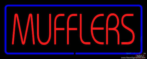 Red Mufflers Blue Line Real Neon Glass Tube Neon Sign