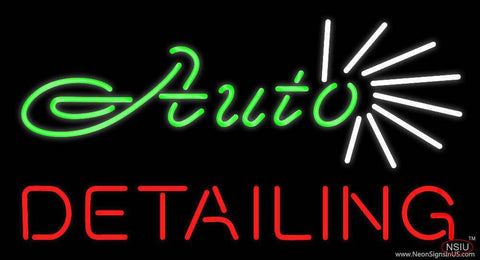 Green Auto Red Detailing Real Neon Glass Tube Neon Sign