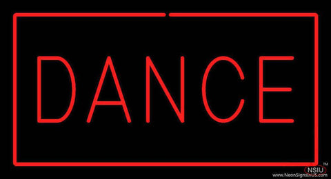 Red Dance with Red Border Real Neon Glass Tube Neon Sign